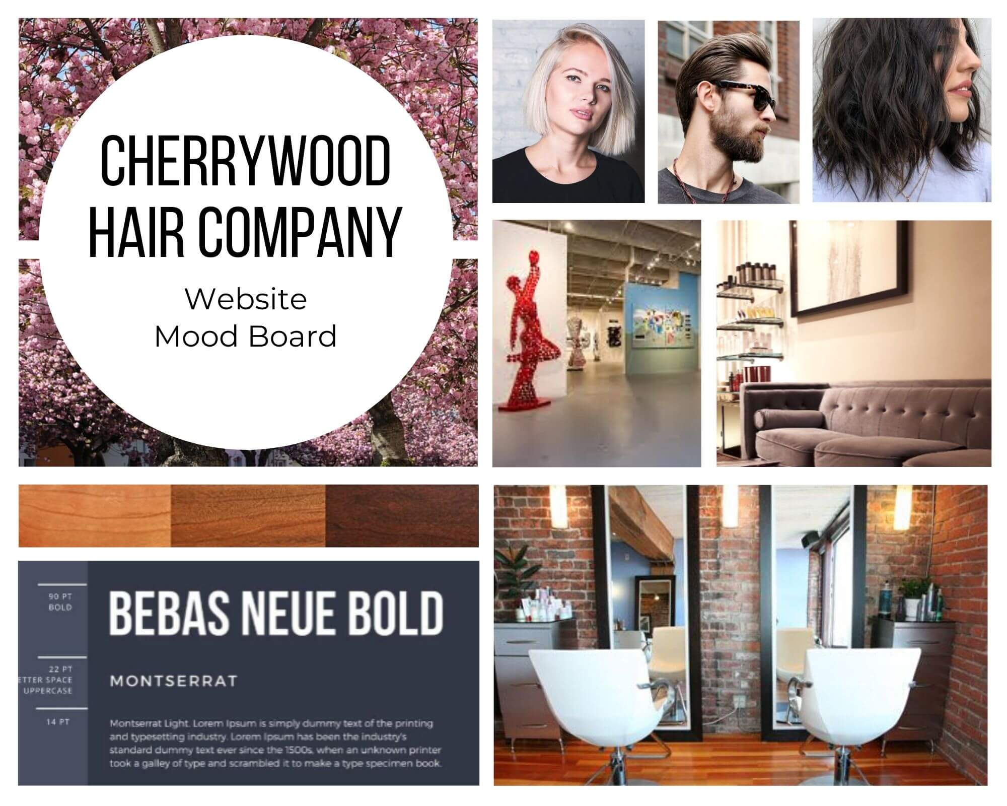 cherrywood hair co mood board